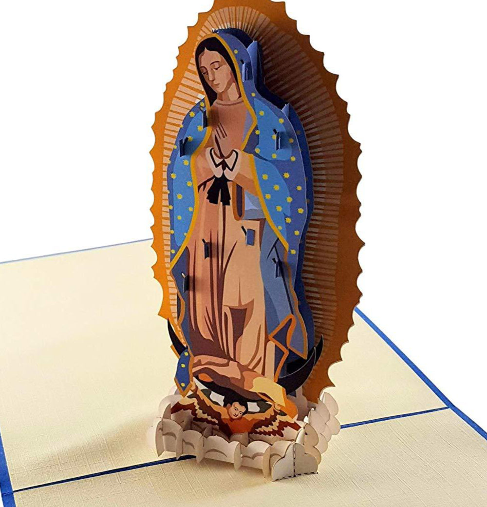 Our Lady Virgen de Guadalupe (Blue Cover) 3D Pop Up Greeting Card 1 front