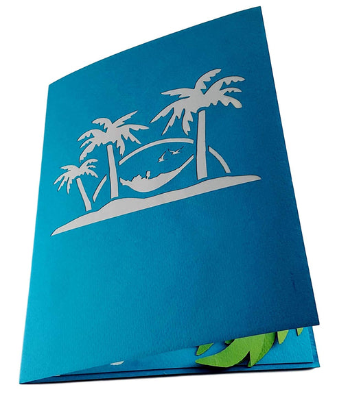 Paradise 3D Pop Up Greeting Card 3