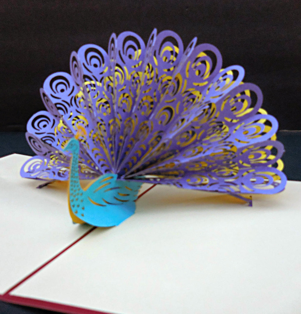 Peacock 3D Pop Up Greeting Card 1