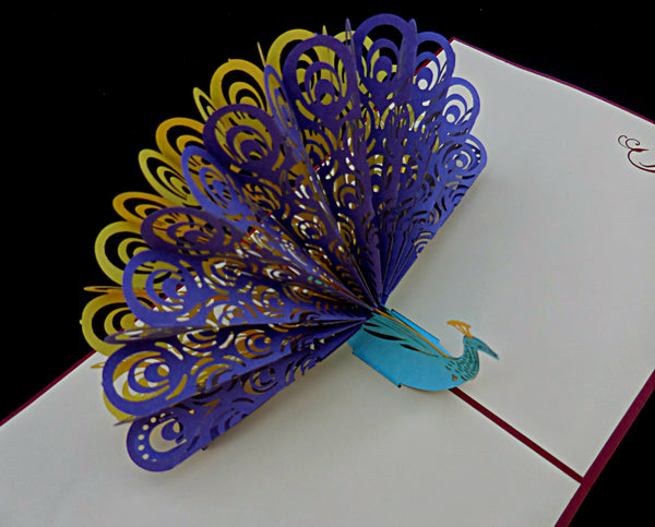 Peacock 3D Pop Up Greeting Card 2
