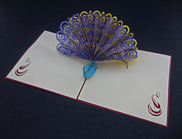 Peacock 3D Pop Up Greeting Card 3