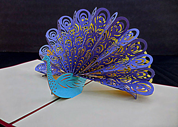 Peacock 3D Pop Up Greeting Card 4
