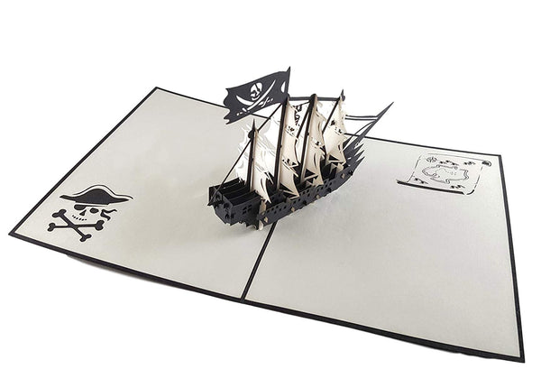 Pirate Ship 3D Pop Up Greeting Card 2