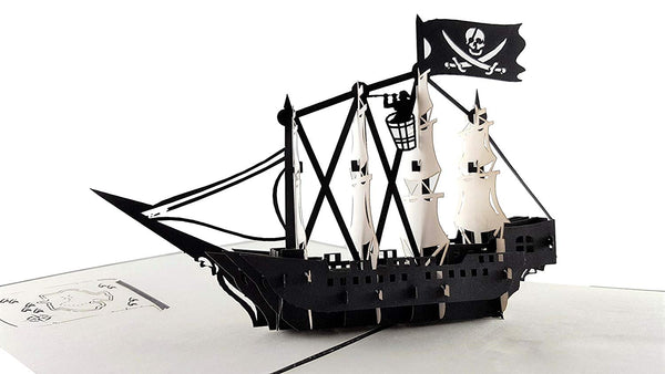 Pirate Ship 3D Pop Up Greeting Card 3