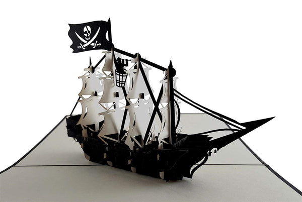 Pirate Ship 3D Pop Up Greeting Card 4
