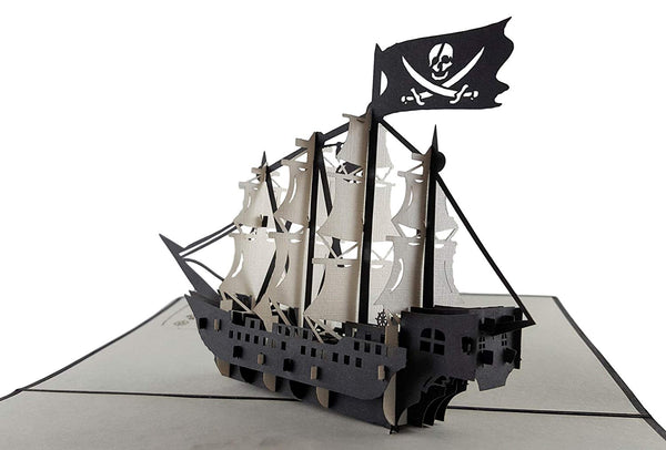 Pirate Ship 3D Pop Up Greeting Card 5