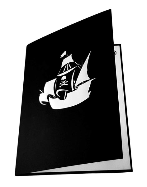 Pirate Ship 3D Pop Up Greeting Card 6