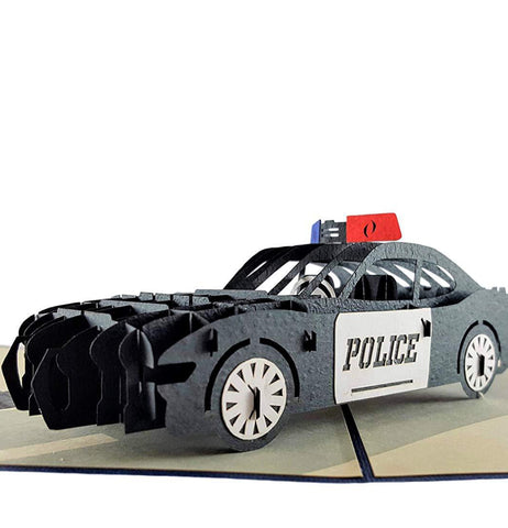 Police Car 3D Pop Up Greeting Card 1 front