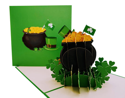 Pot of Gold 3D Pop Up Greeting Card