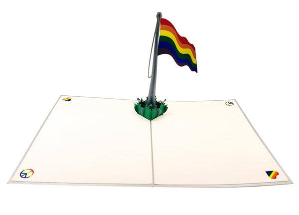 Pride Rainbow Flag 3D Pop Up Greeting Card 3