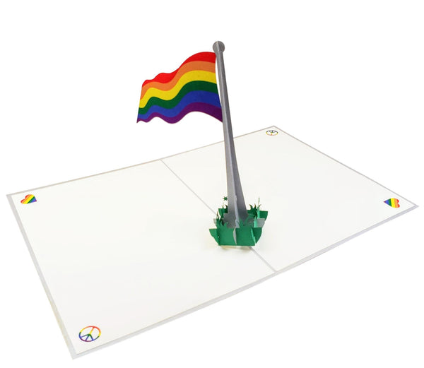 Pride Rainbow Flag 3D Pop Up Greeting Card 5