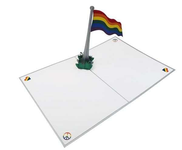 Pride Rainbow Flag 3D Pop Up Greeting Card 6