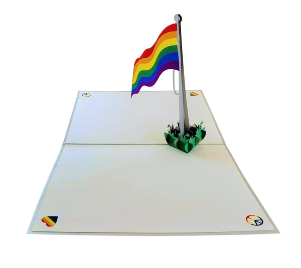 Pride Rainbow Flag 3D Pop Up Greeting Card 7