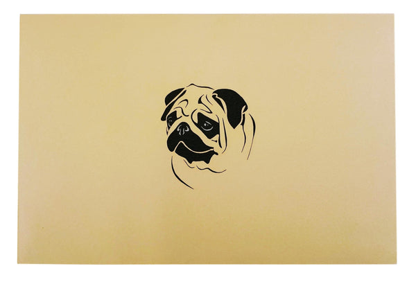 Pug Family 3D Pop Up Greeting Card 9