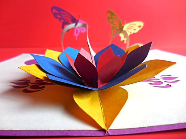 Purple Butterflies 3D Pop Up Greeting Card 3