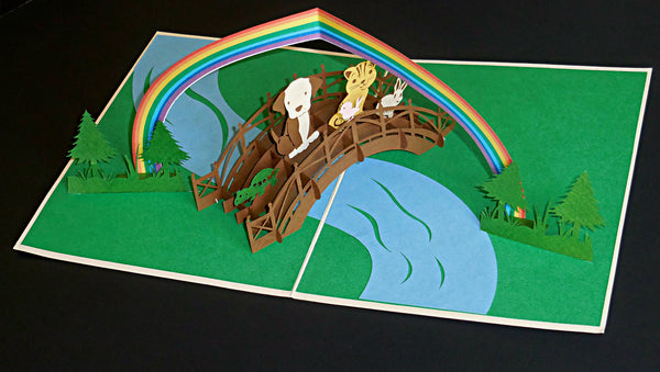 Rainbow Bridge 3D Pop Up Greeting Card 3
