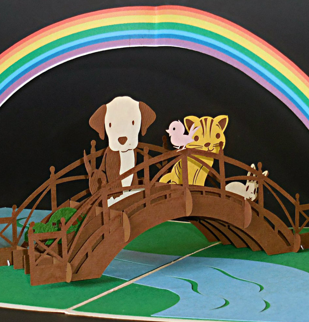 Rainbow Bridge 3D Pop Up Greeting Card 1