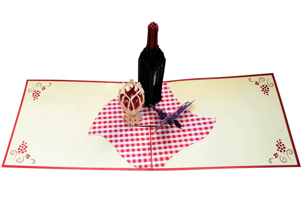 Red Wine 3D Pop Up Greeting Card 4