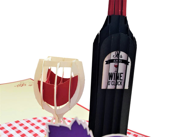 Red Wine 3D Pop Up Greeting Card 5