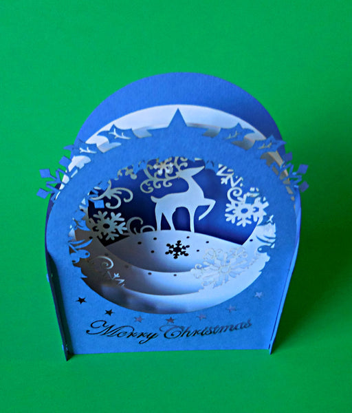 Reindeer III 3D Pop Up Centerpiece 2