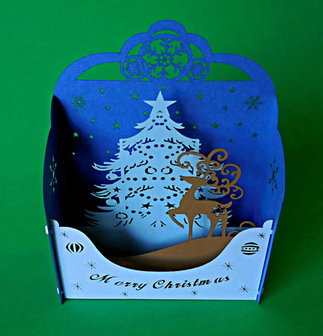 Reindeer II (Gold) 3D Pop Up Centerpiece 1