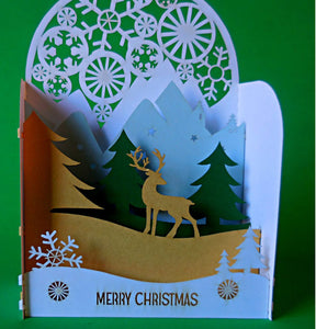 Reindeer I (Gold) 3D Pop Up Centerpiece 1