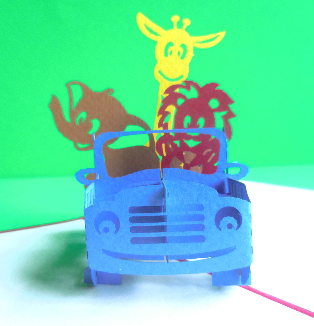 Safari Gang 3D Pop Up Greeting Card 1