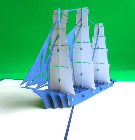 Sailboat 3D Pop Up Greeting Card 1