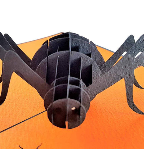 Scary Black Spider 3D Pop Up Greeting Card 1 front