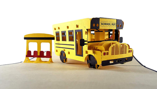 School Bus 3D Pop Up Greeting Card 2
