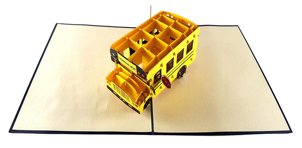 School Bus 3D Pop Up Greeting Card 3