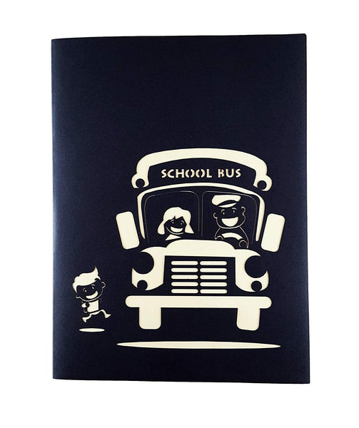 School Bus 3D Pop Up Greeting Card 5