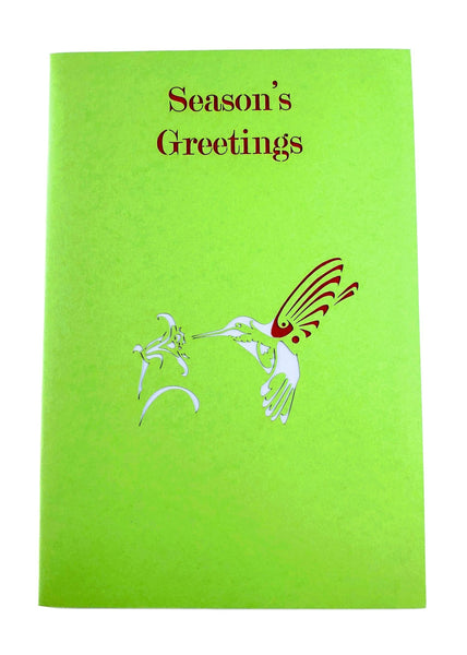 Season's Greetings Hummingbird 3D Pop Up Greeting Card 8