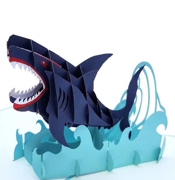 Shark 3D Pop Up Greeting Card 01 cover