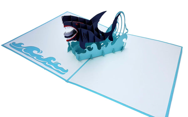 Shark 3D Pop Up Greeting Card 3