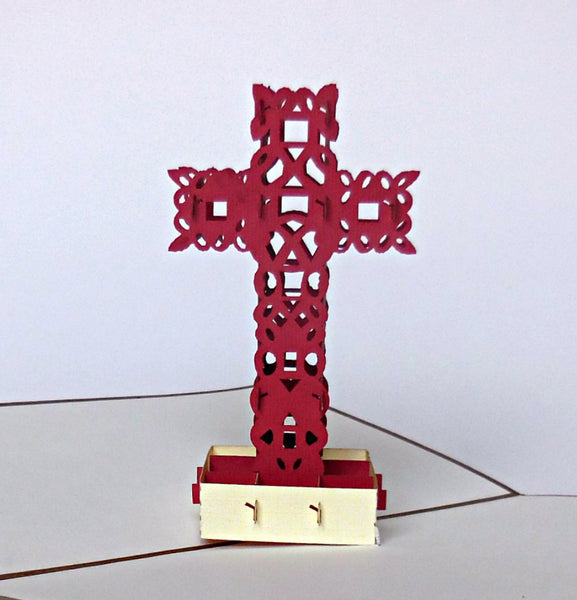 Simple Cross II 3D Pop Up Greeting Card 1