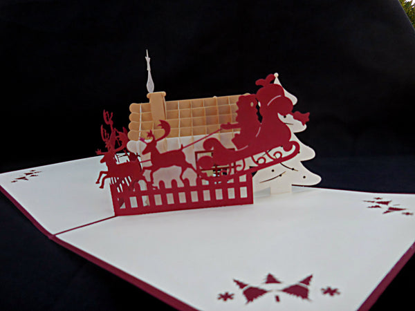 Snow House 3D Pop Up Greeting Card 3
