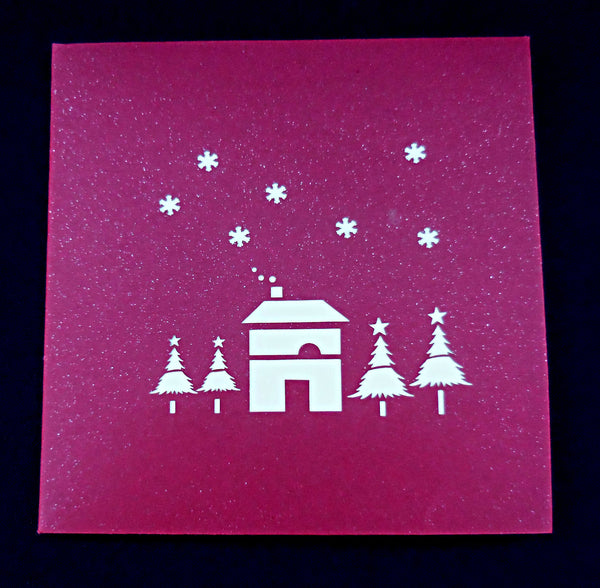 Snow House 3D Pop Up Greeting Card 5
