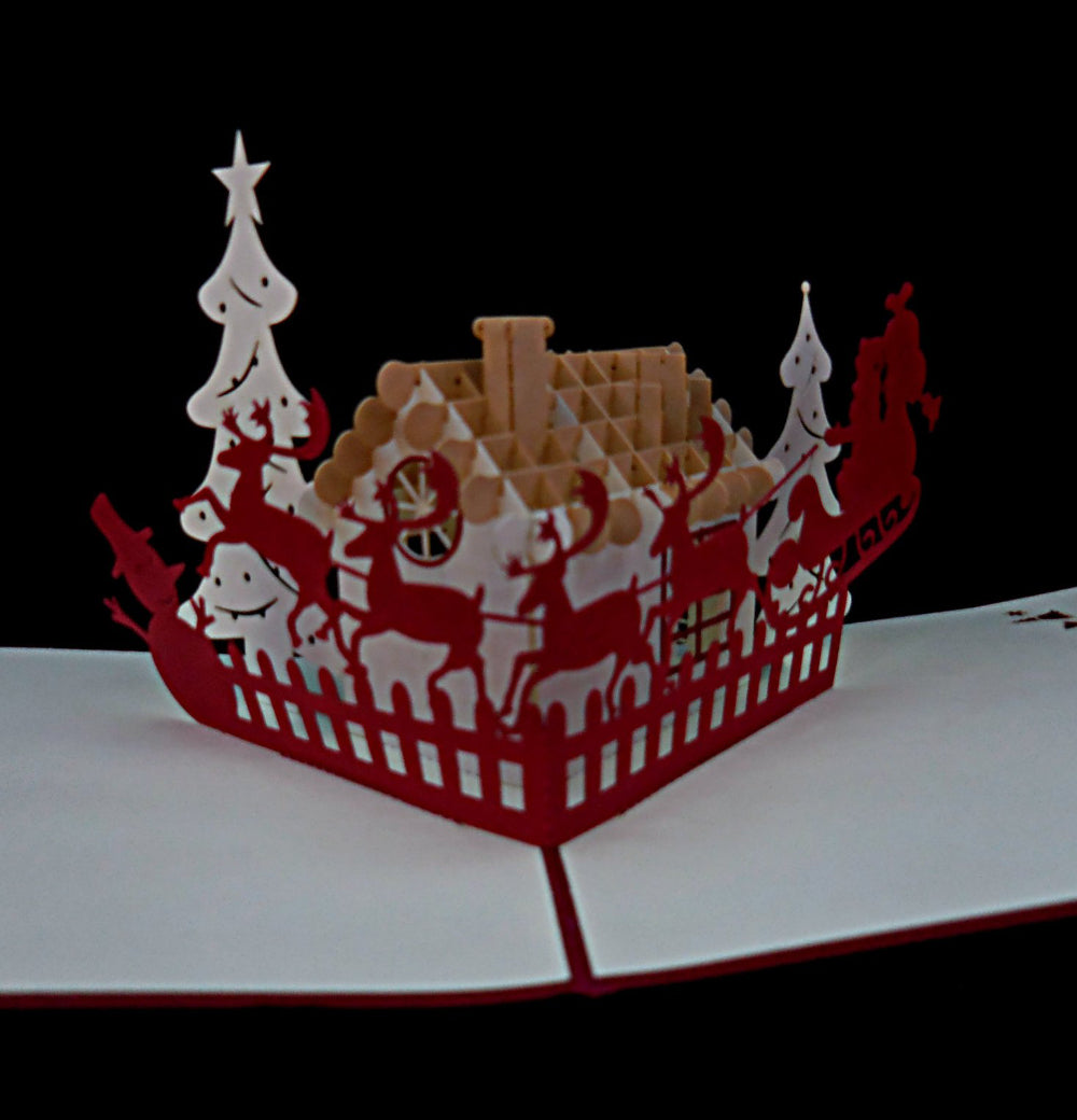 Snow House 3D Pop Up Greeting Card 1