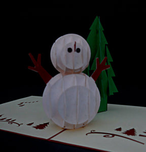 Snowman 3D Pop Up Greeting Card 1
