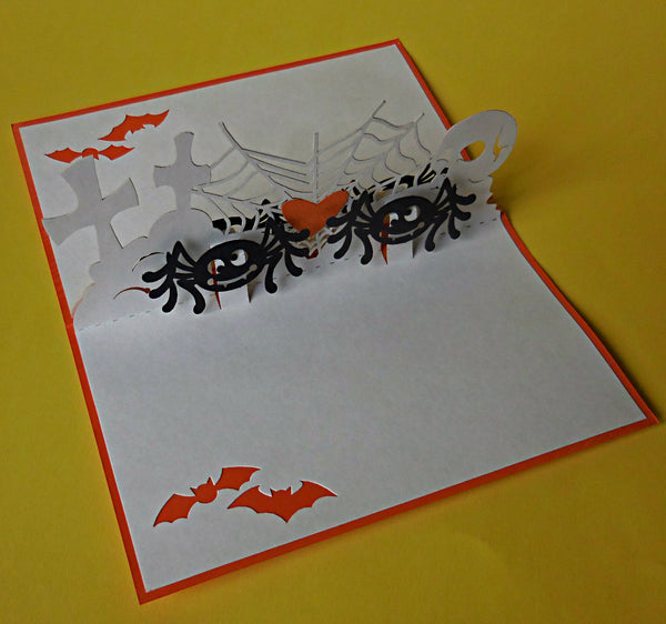 Spiders 3D Pop Up Greeting Card 3