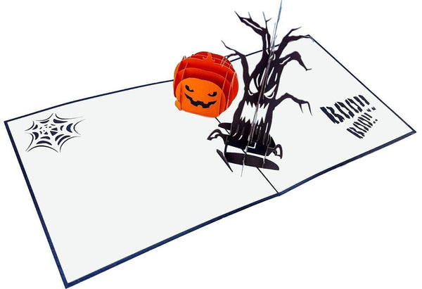 Spooky Tree and Jack-O-Lantern 3D Pop Up Greeting Card 2