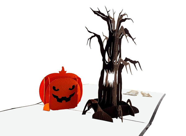 Spooky Tree and Jack-O-Lantern 3D Pop Up Greeting Card 4