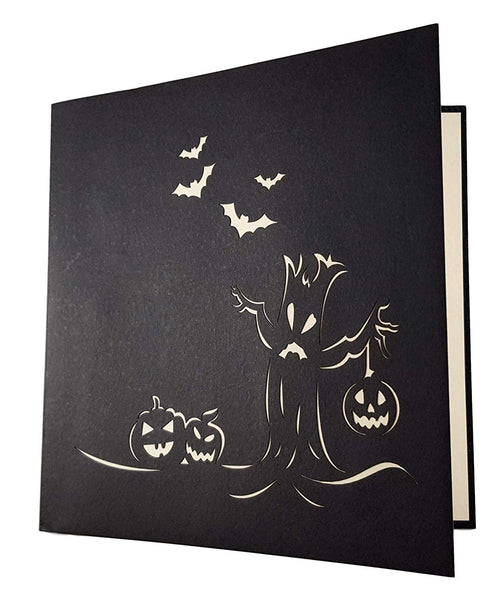 Spooky Tree and Jack-O-Lantern 3D Pop Up Greeting Card 6