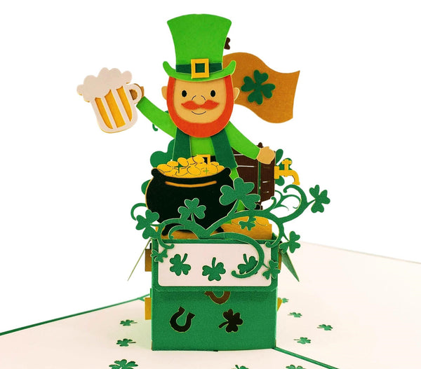 St. Patrick's Day Lucky Leprechaun 3D Pop Up Card 2