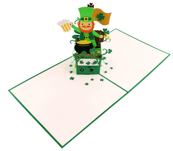 St. Patrick's Day Lucky Leprechaun 3D Pop Up Card 3