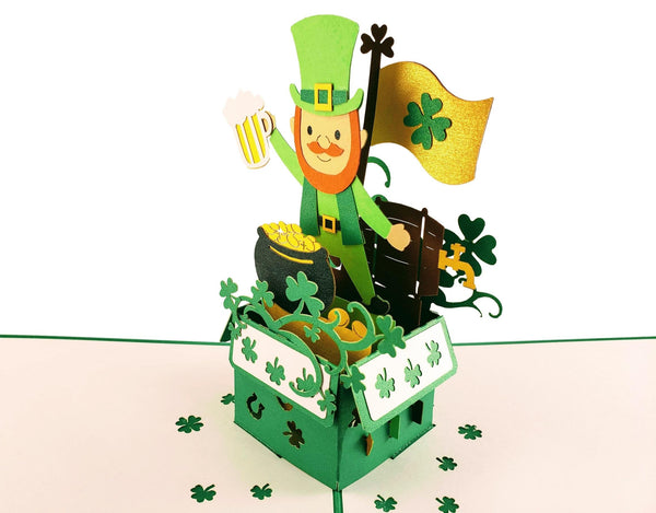 St. Patrick's Day Lucky Leprechaun 3D Pop Up Card 5
