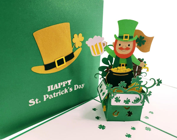 St. Patrick's Day Lucky Leprechaun 3D Pop Up Card 7