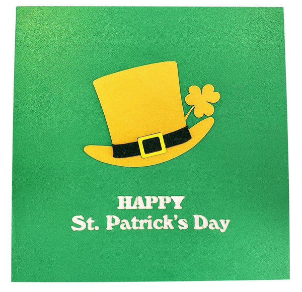 St. Patrick's Day Lucky Leprechaun 3D Pop Up Card 9
