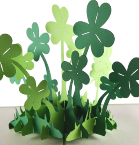 St. Patrick's Shamrock 3D Pop Up Greeting Card 1